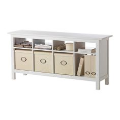 $189 here it is again accessorized.  HEMNES Sofa table IKEA Solid wood; gives a natural feel.  could also be used for plants and gives extra storage.  This coordinates with the TV stand I suggested.