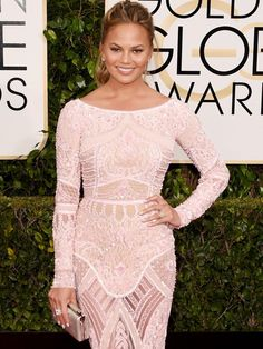 The Biggest and Best Baubles from the 2015 Golden Globes Red Carpet via @WhoWhatWear // Chrissy is one of our best dressed!