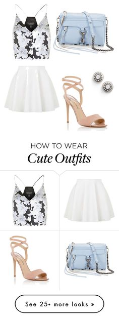 """""""Cute summer outfit"""" by esmevillareyes on Polyvore featuring Topshop, Rebecca Minkoff, Paul Andrew and Freida Rothman"""
