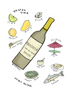 This exciting new Greek variety Malagousia reminds me of a zesty, unoaked #Viognier.  Smells of lime, peaches, mango, rose and beeswax.  Try something new this summer.  #WhiteWine #GreekWine