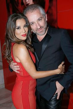 Pin for Later: It Wasn't Just the Carpet That Was Red at L'Oréal's Paris Party Eva Longoria and Cyril Chapuy