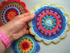 Mandala Wheels for Yarndale 2014 - Attic24  Jump on in and do some crocheting and join this big project! Read the blog to learn more!!!