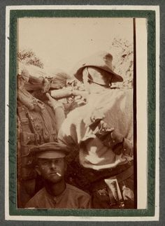 Sniper Ken Hamilton with Alan Duke in Trench, Gallipoli, Trooper George Simpson Millar Album, World War I, 1915. Kenneth MacLeod Hamilton was 22 years and six months old when he joined up in Longreach, Queensland on 5 November 1914. He served in the...
