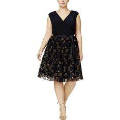 d49212b2f4c SLNY SLNY Plus Womens Glitter Sleeveless Party Dress Party Dress