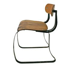 Wood and Steel IRONRITE HEALTH POSTURE IRONING CHAIR C1938 | Restored Lighting, Antiques & Vintage Finds from Rejuvenation