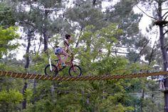 Un vaste terrain de jeu pour les amateurs de sensations fortes avec ses 5 hectares d'arbres culminants à plus de 20 mètres de haut.