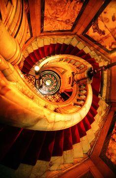 Neo Renaissance, Hotel Deville, staircase, Paris, France by John Galbo