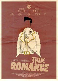 True Romance (Script by Tarantino) Best Movie Posters, Classic Movie Posters, Movie Poster Art, Film Posters, Music Posters, Romance Art, True Romance, Romance Movies, Excellent Movies