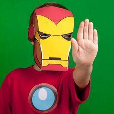 Maschera di Iron Man da stampare e ritagliare