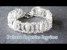 DIY - Pulsera de perlas lagrimas - Teardrop pearl bracelet - YouTube