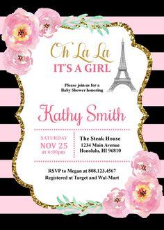 Paris Invitation Paris Theme Party Paris Themed Invitations Paris