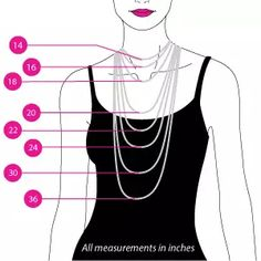 women's necklace sizing