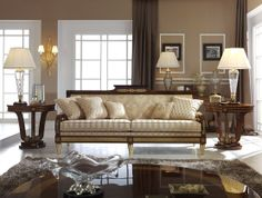 Living room from our Park Lane collection, the classic line alternatively come with a strong empire influences, focused on Luxury and exotic veneers combined with oak inlay and French gold ormolu. Mariner Luxury Furniture