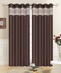 Look at this Chocolate Rio Curtain Panel - Set of Two on #zulily today!