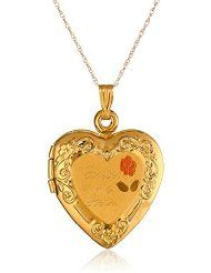 """14k Yellow Gold """"Forever In My Heart"""" Locket Necklace, 18"""" $144.99"""