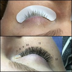 Lash mapping - Longest length in the center of the eye to keep a nautral shape & help open up the eye