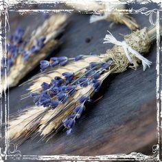Lavender And Wheat Boutonniere - Herb Weddings - Rustic Elegant Wedding - Purple Dried Flower - Groomsmen, Groom - Herbal Lapel Pin on Etsy, $12.00