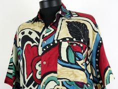 Metropolitan View Button Up Shirt Size Medium Vintage 100% Rayon  #Shopping #Style #Fashion http://www.ebay.com/itm/-/271537106342?roken=cUgayN via @eBay