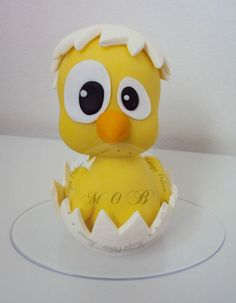 Chick Being Hatched Fondant Figure