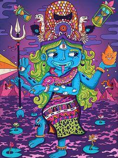 Hindu gods serie / Shiva. More details on my blog : keuj.net