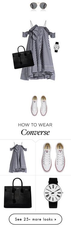 """""""Sporty Chic: Sneakers and Dresses"""" by anyasdesigns on Polyvore featuring Prada, MSGM, Yves Saint Laurent, Converse and Rosendahl"""