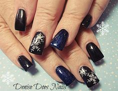 Black n Sparkle Blue