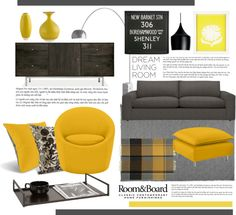 """""""Room & Board Dream Living Room Contest Entry"""" by aries13 on Polyvore"""