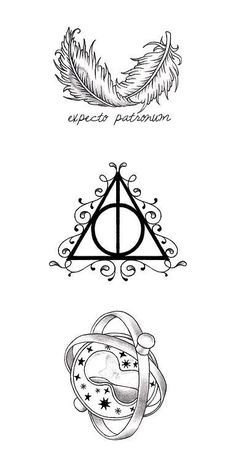 Harry potter symbols. Symbols for my HP piece.  :)                                                                                                                                                                                 More