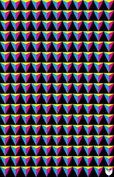 CMYK Triangles Art Print - Jon Hernandez