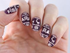 Textured Christmas Stamping feat. Dance Legend - Amethyst / Essie - Penny Talk