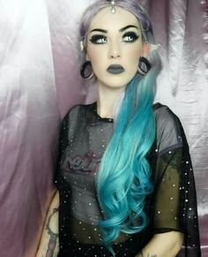 Let's be Mermaids  Beautiful Aimee dyed her Cliphair Extensions to achieve this perfect Mermaid look  Shop your dyeable extensions with free delivery worldwide #mermaidhair