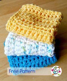 Dishcloth Knitting Patterns, Knit Dishcloth, Easy Crochet Patterns, Easy Patterns, Knit Or Crochet, Crochet Gifts, Free Crochet, Patron Crochet, Crochet Santa