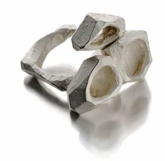 contemporary jewellery: silver ring by Gabi Veit