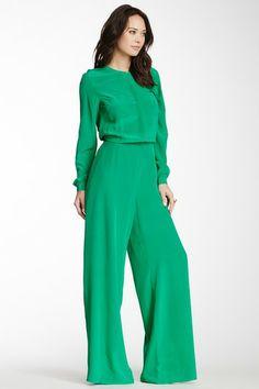 Silk Long Sleeve Jumpsuit by Rachel Roy on @HauteLook