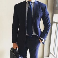 Cool navy suit