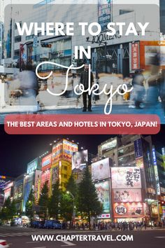 Tokyo is a big city, so it's important to make sure you stay in the right area! In this post I share the 7 best areas to stay in Tokyo, including the best hotels in Tokyo and things to do in those areas! #Tokyo #Japan