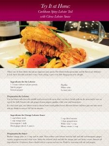 #Recipe: Caribbean Spiny #Lobster Tail with Citrus Lobster Sauce
