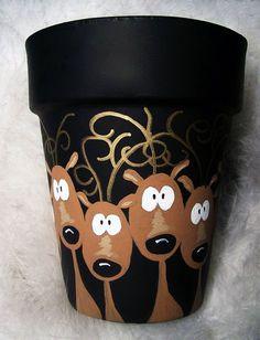 Reindeer Flower Pot