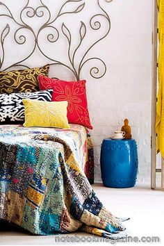 Boho chic bed