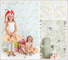 Kids Decor - wallpaper, wall decals, rugs, lights, lamps etc