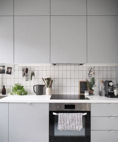 The grey Veddinge units are kept minimal with little or no handles. I wanted the kitchen to not look too 'kitchen-y' but integrated into the rest of the home as a multifunctional space
