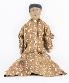 Early American Oil Cloth Doll