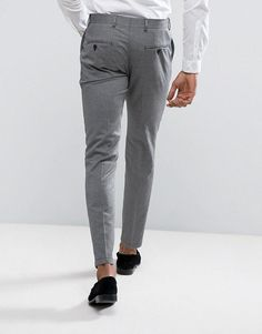 Selected Homme Skinny Smart Pant With Stretch - Gray