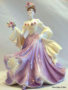 COALPORT Bone China Figurine SWEETEST ROSE Edition COA Box Made in England.