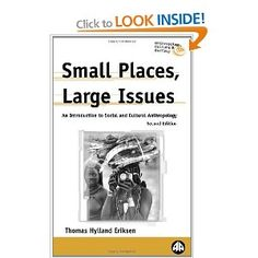 Eriksen (2001) Small Places Large Issues - god send