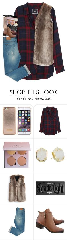 """""""gilmore girls; i shop lorky soooo muchhhh"""" by shayairforceblue ❤ liked on Polyvore featuring Ted Baker, Rails, Anastasia Beverly Hills, Kendra Scott, Chicwish, Kat Von D and TheBalm"""