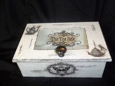 Wooden  tea box with glass by BoutiqueClaire on Etsy, $29.00