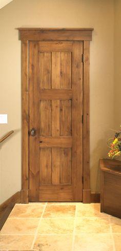 rustic door frame molding & Rustic Craftsman - traditional - interior doors - denver - Sun ...