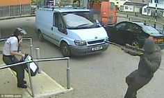 CAUGHT ON CCTV: DRAMATIC MOMENT SECURITY GUARD SURRENDERS BOX FULL OF MONEY TO ARMED RAIDER WHO THREATENED HIM WITH A RIFLE | CAVIAR KAISERS