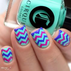 Whats Up Nails - Marbled Zig Zag Stencils | Whats Up Nails